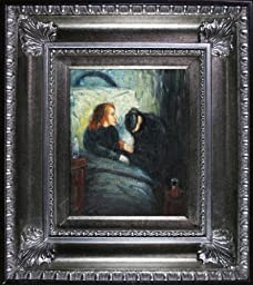 overstockArt The Sick Child Painting with Regency Silver Frame by Munch