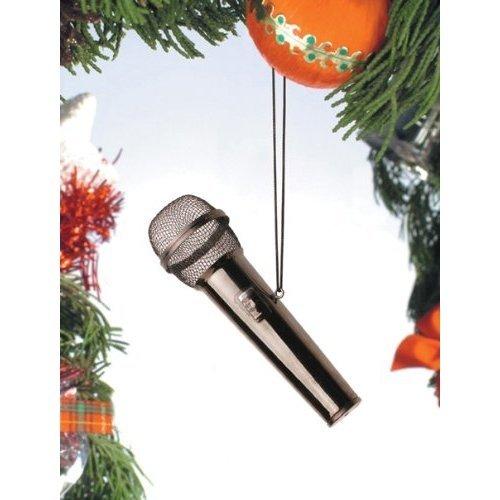 "3"" Black Microphone Ornament"
