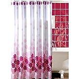 KAKA(TM) Waterproof Water-Repellent Antibacterial Anti-wrinkle Bathroom Shower Curtain- Peach blossom Polyester Liner (47.2*70.9)