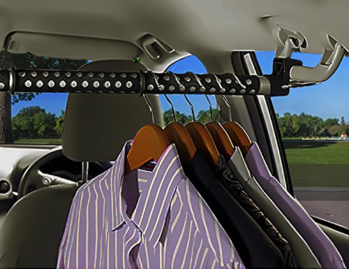 zone tech expandable car cloth hanger clothing rod bar garment rack holder hook ebay. Black Bedroom Furniture Sets. Home Design Ideas