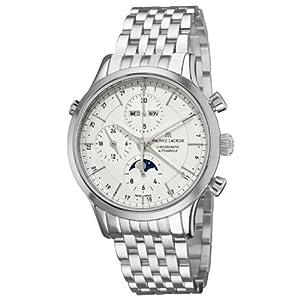 Maurice Lacroix Men's LC6078-SS00213E Les Classiqu Silver Chronograph Dial Bracelet Watch by Mauser