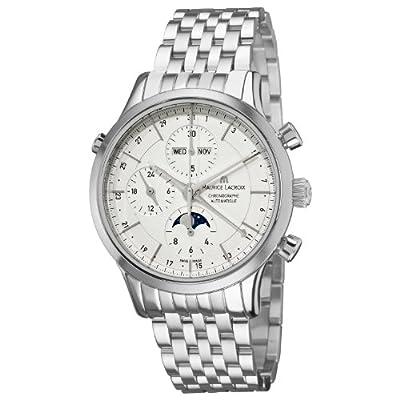 Maurice Lacroix Men's LC6078-SS00213E Les Classiqu Silver Chronograph Dial Bracelet Watch