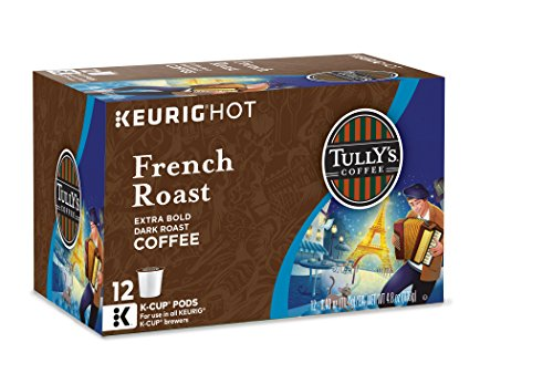 Tully's Coffee French Roast, Keurig K-Cups, 72 Count (K Cups Coffee Tullys French Roast compare prices)