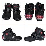 PRO Sportbike レーシングブーツ/バイク用ブーツ/ショートブーツ 強化防衛性 ライダーブーツ 41(約25.5-26CM) ブラック
