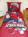 Marvel Ultimate Spiderman Red Single Duvet Cover Set