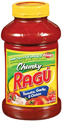 Ragu Chunky Pasta Sauce, Tomato Garlic & Onion, 45 Ounce Bottles (Pack ...