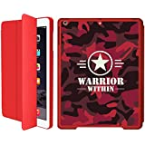 IPad Mini 1/iPad Mini 2/iPad Mini 3 Smart Case Flip Cover (Red)- Neon Red -Warrior Within Camouflage-Limited Edition...