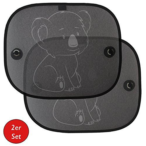 Auto-Sonnenschutz-Sonnenblende-fr-Kinder-Babys-2er-Set-von-Koala-fr-Seitenfenster-Schutz-vor-schdlicher-UV-Strahlung