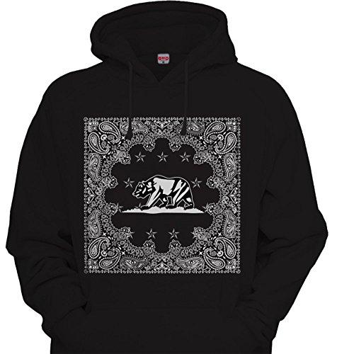 Cali Full Bandana Print Hoodie Hooded Sweatshirt California Republic Paisley CA (Ca Hoodie compare prices)