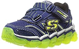 Skechers Kids Boys Skech Air TD Athletic Sneaker (Toddler), Navy/Lime, 6 M US Toddler