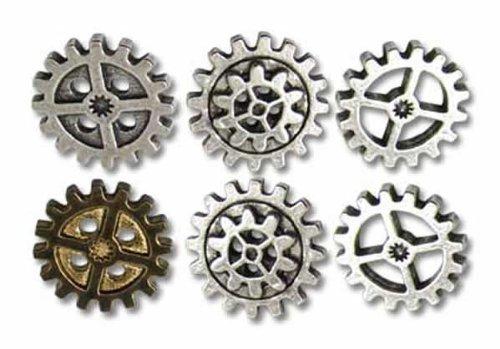 Alchemy Empire: Steampunk Gearwheel Shirt Buttons