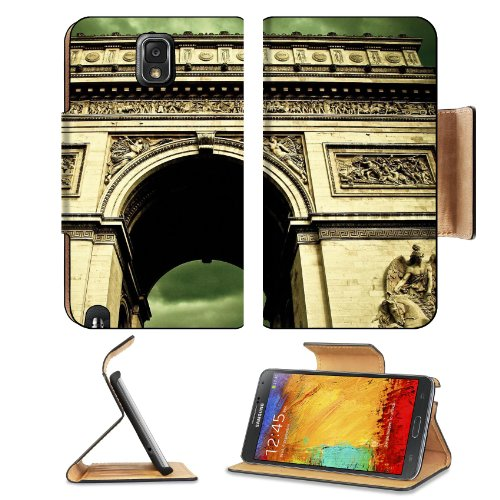 Angels Paris Clouds France Arc De Skies Samsung Galaxy Note 3 N9000 Flip Case Stand Magnetic Cover Open Ports Customized Made To Order Support Ready Premium Deluxe Pu Leather 5 15/16 Inch (150Mm) X 3 1/2 Inch (89Mm) X 9/16 Inch (14Mm) Msd Note Cover Profe