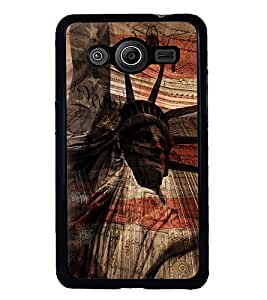 Fuson Premium Statue Of Liberty Metal Printed with Hard Plastic Back Case Cover for Samsung Galaxy Core2 G355H
