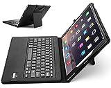ipad pro 9.7インチケース, 【IVSO】ipad pro 9.7インチキーボードカバー 開閉で自動的 PUレザーケース マグネット着脱可能 ipad pro 9.7インチ専用 一体型Bluetoothワイヤレスキーボード(ブラック)