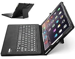 iPad Pro Keyboard case, IVSO® Apple iPad Pro Tablet Ultra-Thin High Quality DETACHABLE Bluetooth Keyboard Stand Case / Cover for Apple iPad Pro 12.9-inch Tablet (Black)
