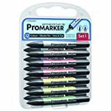 Letraset ProMarker Set (12 colours + Free Blender) - Set No.1