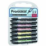 Letraset Pro Marker Blending Set 1, Twin-Tip, 12-Pack