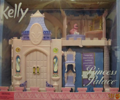 Barbie Kelly Kingdom Princess Palace Playset Castle W Canopy Bed, Pinky Magic Dragon & More! (1999) front-765490