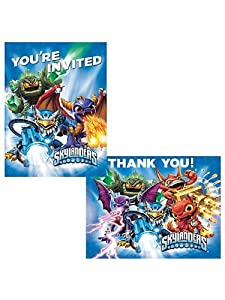 Skylanders Invite Thank You Note Cards (8 each) Invitations Birthday Party from Amscan