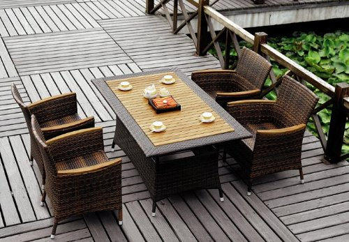 gartenset garten set marie rattan set teakholz. Black Bedroom Furniture Sets. Home Design Ideas