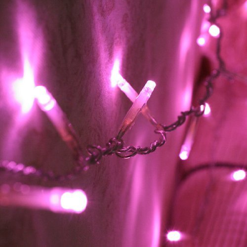 INST 10M 100 Led Fairy String Lights, Idea for Indoor and Outdoor Decorations (Pink)