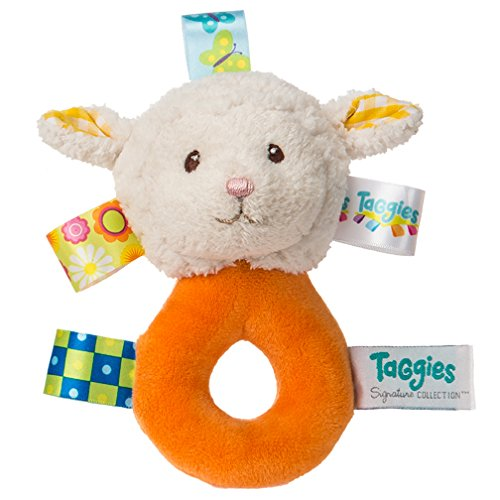 Mary Meyer Taggies Sherbet Lamb Barnyard Rattle Toy - 1