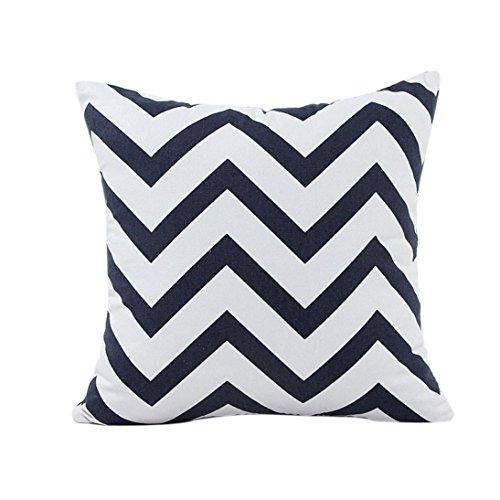 Sunnywill-Home-Auto-Bett-Sofa-dekorative-Wellenmuster-Fall-Kissen-Kissenbezug-Schwarz