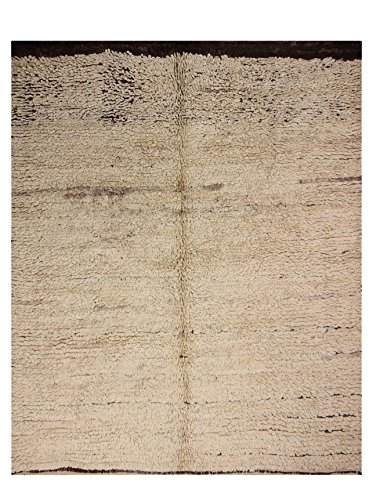 nuLOOM One-of-a-Kind Hand-Knotted Roy Berber Shag Rug, Natural, 5' 5