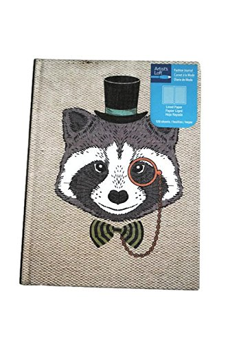 Hipster Racoon Journal 120 Lined Sheets Hardcover Bound