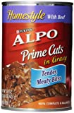 Purina Alpo Prime Cuts Beef Canned Dog Food, 22-Ounce (Pack of 12)