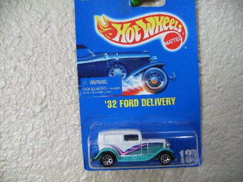 Hot Wheels '32 Ford Delivery 1995 All Blue Card #135 /7 Spoke Wheels - 1