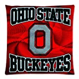 Soft Cotton Pillowcase Personalized Pillow Case 1 Side-NCAA Ohio State Team Logo Pictures-18x18-03 at Amazon.com
