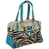 Poodlebags Funkyline - Exotic Remix - Golden Apple - zebra petrol 3FL0313GOLDZ, Damen Shopper 45x30x19 cm (B x H x T)
