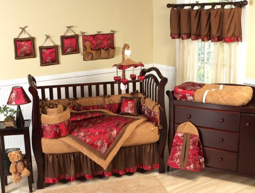 JoJo Designs 9-Piece Baby Crib Bedding Set - Oriental Garden Asian Brocade