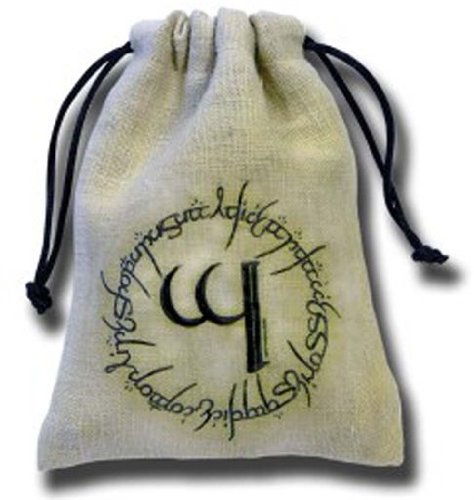 Q-Workshop: Elven Dice Bag in Linen (Elvish)