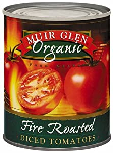Muir Glen Organic Fire Roasted Dice Tomatoes, 28-Ounce Cans (Pack of 12)