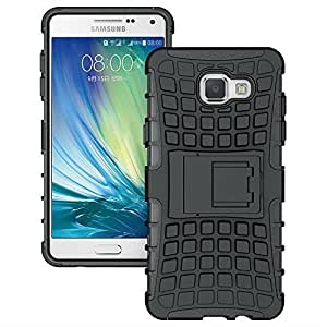 Dashmesh Shopping Hybrid case forSamsung Galaxy A5 (2016) A510 , Shock Proof Protective Rugged Armor Super Hybrid Heavy Duty Back Case Cover for Samsung Galaxy A5 (2016) A510 - Rugged Black Color