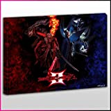 G029 Devil May Cry 3 Dante and Vergil Framed Ready To Hang Canvas Print, Games, Pop Street Wall Art, Picture