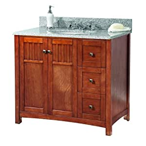 Foremost Kncarg3722d Knoxville 37 Inch Width X 22 Inch Depth Vanity With Granite Top Rushmore