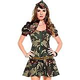 【Barsado】ハロウィンコスプレ衣装アーミーミリタリー婦人警官ポリス迷彩レディースミニスカート迷彩服