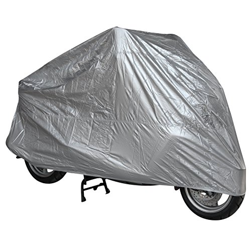 Telo-Copri-Moto-Scooter-Naked-Customo-Impermeabile-PVC-Universale-Argento