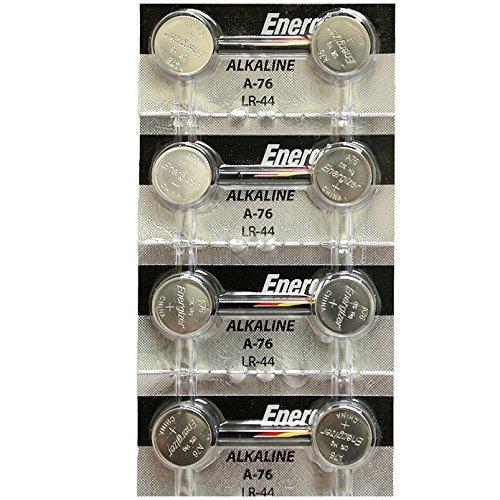 Strip-of-8-Energizer-A76LR44-A76BP-SR44-L1154-15v-Alkaline-Batteries
