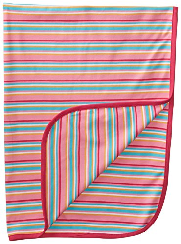 Zutano Baby-Girls Newborn Multi Stripe Swaddle Blanket, Hot Pink, One Size