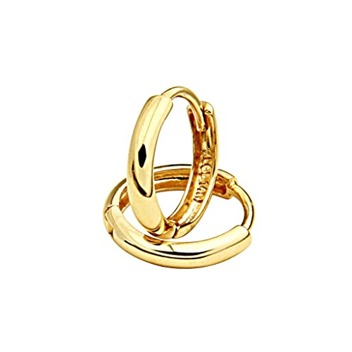 14K-Yellow-Gold-2mm-Thickness-Small-Huggies-Earrings-for-Kids-Teens-0-4-or-10mm-