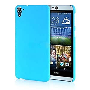 Sheerworth™ Rubberised Matte Hard Case Back Cover For HTC DESIRE 826 (Sky Blue)