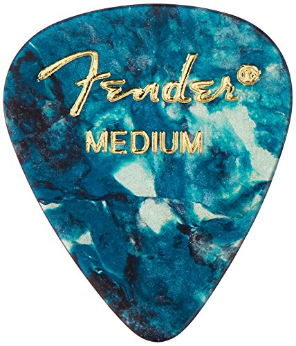 fender-351-shape-classic-medium-celluloid-picks-12-pack-ocean-turquoise-for-electric-guitar-acoustic
