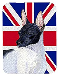 Caroline's Treasures Rat Terrier with English Union Jack British Flag Mouse Pad/Hot Pad/Trivet (SS4922MP)