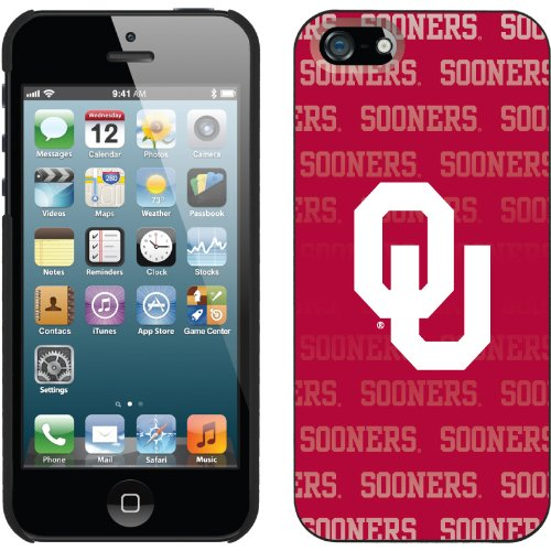 Great Sale Oklahoma - Repeating design on a Black iPhone 5 Thinshield Snap-On Case by Coveroo