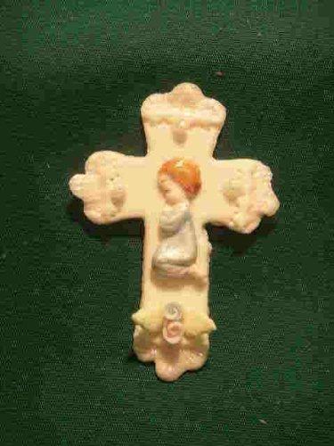 6 Pieces Cold Porcelain Trinket Cross Cake Deco Capia Baby Shower Favor - Boy front-854890