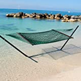 Caribbean Rope Hammock - 55 Inch - Soft-Spun Polyester (green)